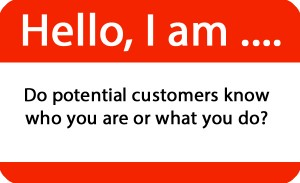let your customers know who you are
